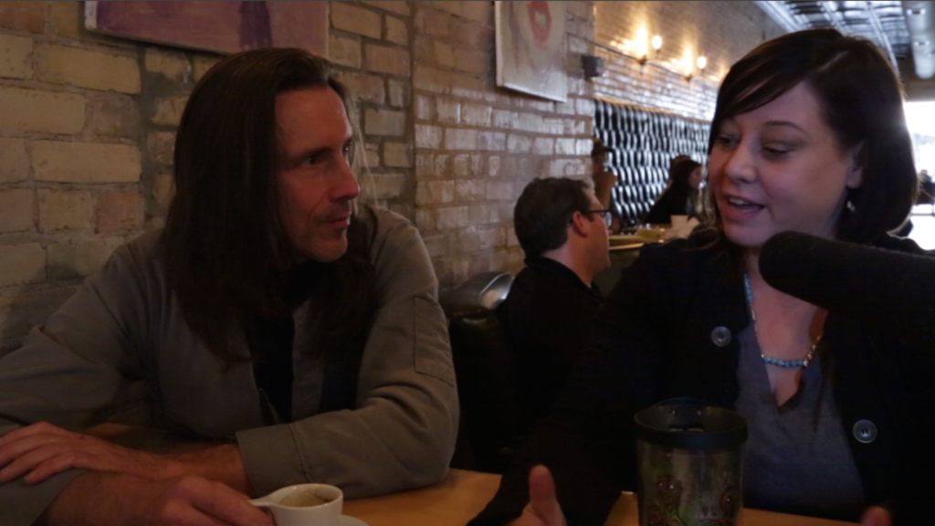 Shri Fugi Spilt aka Dan Kelly talks with makeup artist Nicole Enger at Brew in Traverse City, Michigan about her experience listening to the Daughter of Godcast. A podcast test with a focus group of one.